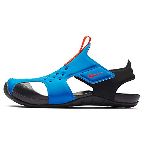 Nike Jungen Sunray Protect 2 (PS) Dusch-& Badeschuhe, Blau (Photo Blue/BRT Crimson/Black 400), 33.5 EU