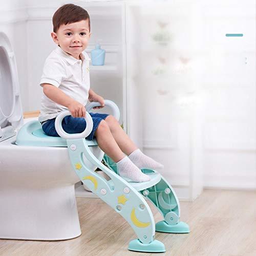 補助便座子供用ステップ付きトイレトレーニングおまるトイレ滑り止め高さ調節可能柔らかいクッション取外し可能尿漏れ防止折りたたみ式安心踏み台ステップ組み立て簡単ピンクブルーPU