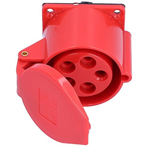 Toma de corriente industrial, materiales auxiliares eléctricos Toma de corriente industrial trifásica con junta impermeable para accesorios eléctricos para agricultura