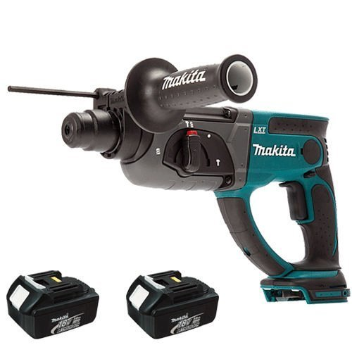 Makita DHR202 18V SDS Plus Rotary Hammer Drill with 2 x 3Ah Battery BL1830