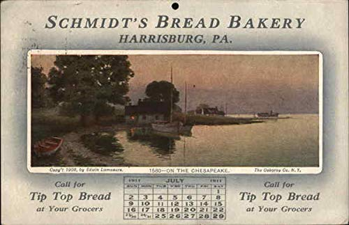 Vintage Advertising Postcard: Schmidt's Bread Bakery Harrisburg, Pennsylvania PA