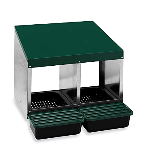 Homestead Essentials 2 Compartment Roll Out Nesting Box for Up to 10 Hens   Heavy...