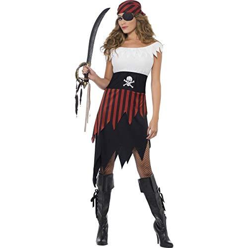 Smiffy's Disfraz de pirata para mujer 30716X1 talla XL, color negro