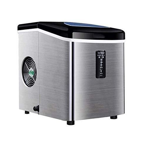 Sdesign Fabricador de hielo, máquina de acero inoxidable máquina de máquinas para máquina de hielo, cubos de hielo listos en 6 minutos, función de autolimpieza, pantalla LCD, 3.2 litros con hielo cuch