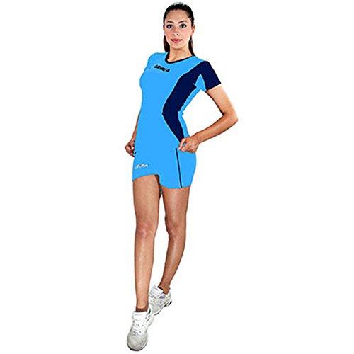 LEGEA Basilicata - Kit Abbigliamento da Donna, Colore: Celest/Blu, Taglia Produttore: 2XL