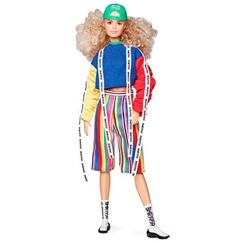 Barbie BMR1959 バービーカラーブロックスウェットシャツ(ロゴテープ&ストライプショーツ)ドール人形 [並行輸入品]