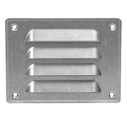 140 x 105mm // 5.5 x 4 inch Ventilation Grill with Insect Protection , Metal , Galvanised, mr14105zn