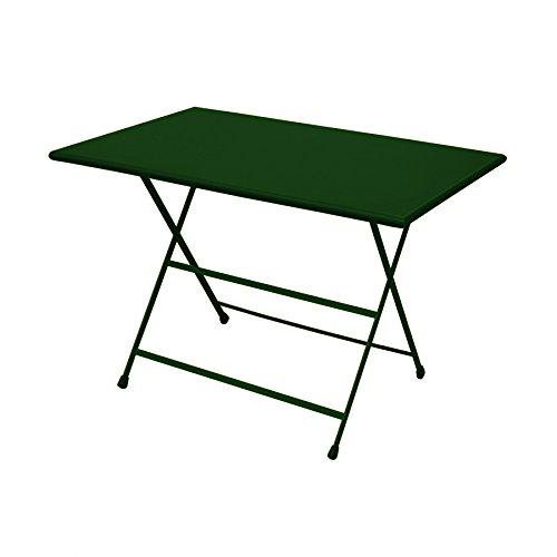 Arc en Ciel Table Pliante 110 cm Ecru Vert Foncé