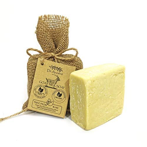 Savon à la lait de chèvre organique naturel traditionnel fait à la main antique - Anti-âge éclaircissant pour la peau, hydratant - Aucun produit chimique, savon naturel pur!