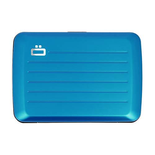 Ögon Smart Wallets - Cartera de aluminio Stockholm V2 - Cierre de metal -Tarjetero RFID antirrobo - Capacidad 10 tarjetas y billetes - Azul