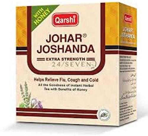 QARSHI JOHAR JOSHANDA Extra Strength Herbal Tea Remedy Cold Flu Honey - 5 Sachet