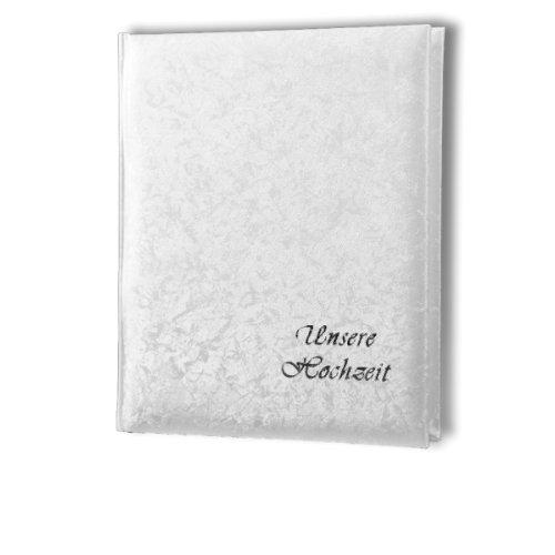 Passepartout Fotoalbum weiss B1824 (21) mit Silberschrift Unsere Hochzeit 13x18