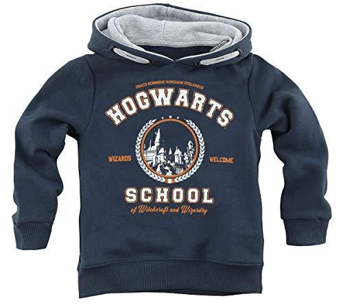 Harry Potter Hogwarts School Männer Kapuzenpullover Navy 152