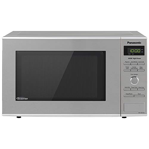 Panasonic NN-SD372S Countertop Microwave with Inverter Technology 0.8 Cu. Ft, 950W, Stainless