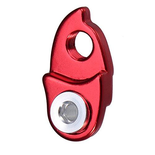 Gancho trasero para cambio de marchas de bicicleta de montaña o carretera, con adaptador de extensión para cassette de bicicleta Shimano 40 T, 42 T, 46 T, 50 T; de la marca VORCOOL (rojo)