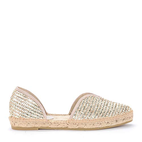 Manebí Slip On Espadrilles Los Angeles In Stoff Gold