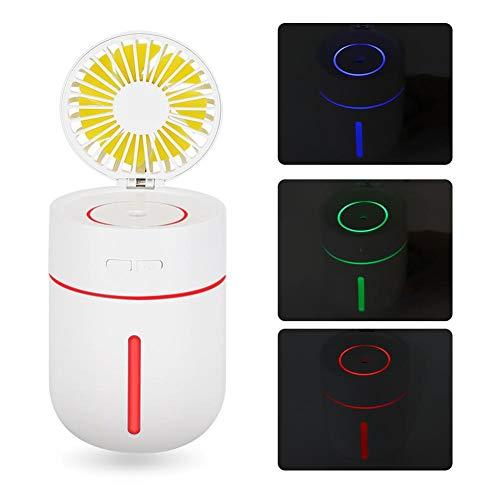 Jinyi Ventilador USB, Ventilador de Mano humidificador, Ventilador de Dormitorio al Aire Libre más Fresco silencioso de Verano