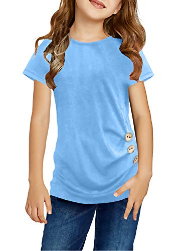 storeofbaby Girls Casual Long Dress Long Sleeve Crew Neck Solid Color