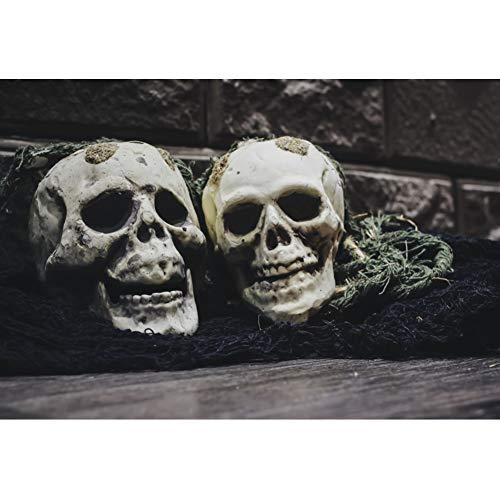 Yeele 3x2,5m Cuento de Hadas Oscuro Fotografía Fondo Horrible cráneo Cuerda de Paja Clásico Período Medieval Fotografía de telón de Fondo Cuento de Hadas Mundo Fiesta temática Foto Accesorios