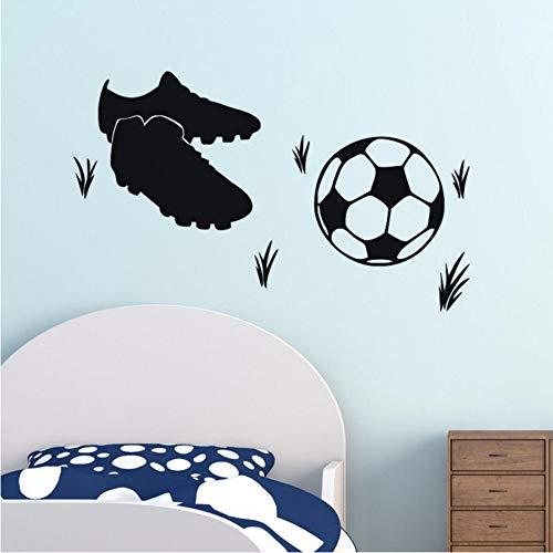 LLLYZZ voetbalschoenen vinyl wandtattoo wooncultuur kunst muurschildering behang afneembare muursticker 44 * 60 cm