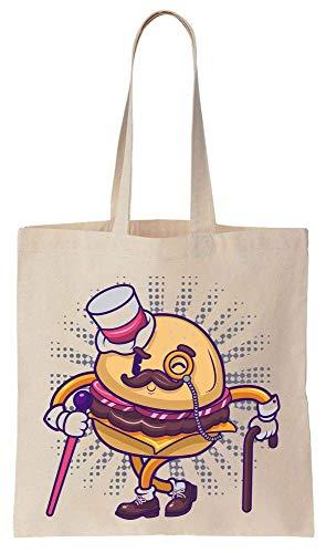 Finest Prints Delicious Sir Burger Sac fourre-tout en toile de coton style vintage