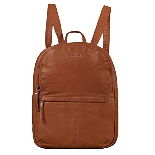 STILORD 'Conner' Zainetto pelle uomo donna Zaino vintage porta pc portatile 13,3' in cuoio grande Borsa per l'università, Colore:mocca - marrone