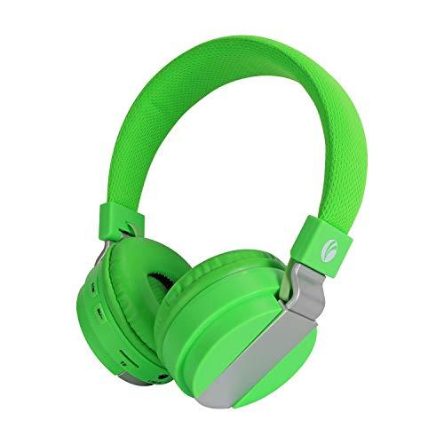 Draadloze koptelefoon, VCOM Bluetooth en bekabelde opvouwbare headset Stereomuziek op oortelefoon met ingebouwde microfoon, TF, FM, compatibel voor iPhone-smartphones iPad-tablets Laptop-pc (groen)
