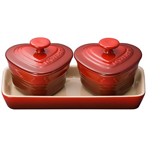 ルクルーゼ プチ ラムカン ダムール セット 耐熱 容器 チェリーレッド 910223-00-06