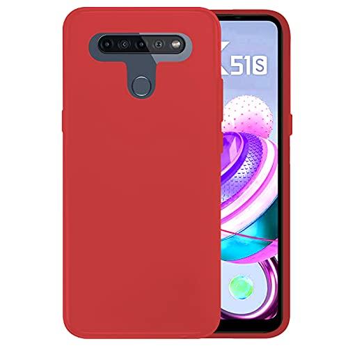 TBOC Rot Gel TPU Hülle Kompatibel mit LG K41S - LG k51S [6.55 Zoll] Superdünn Flexibel Silikon Gehäuse für Handy