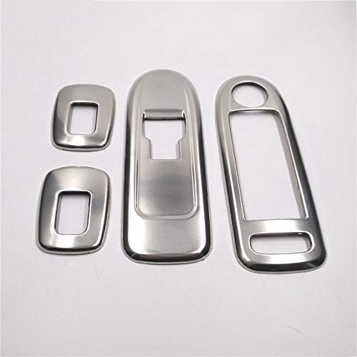 HKPKYK Dekorative Abdeckung für Fensterheber,Für Citroen C5, für Peugeot 508, verchromte Fensterschalterabdeckung Autoheber Knopfverkleidung Dekorationsaufkleber