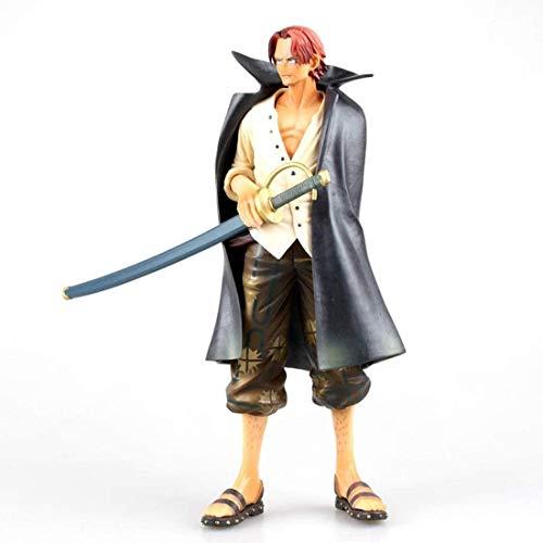 CHAOKU Retrato de piratas de una pieza: Vástagos de pelo rojo modelo figura de PVC mejor colección de regalo juguete para ventilador de anime – alto 9.4 pulgadas