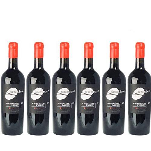 Rotwein Italien Montepulciano d´Abruzzo Riserva Sassopiano trocken (6x0,75l)
