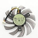 RKRLJX Ventilador de gráficos T128010SM Fit for GIGABYTE GTX 460, 465, 560 Ti 580650, 750Ti Ventilador de Tarjeta gráfica 75MM 12V 0.20A GT440 GT610 GT730 HD 6850 Ventilador(Color:a)
