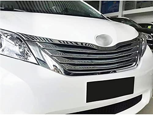 Omaha Mall 5pcs National products Chrome Car Front Center Grill Cover Grille Trim Emble Frame