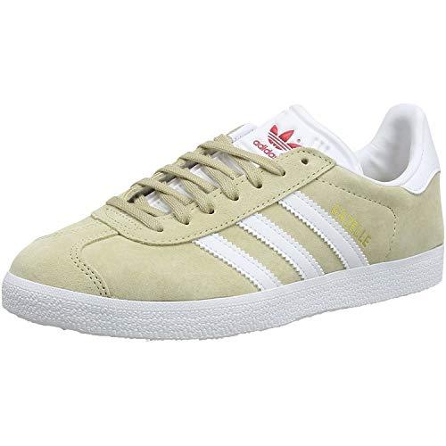 adidas Damen Gazelle W Sneaker, Savannah/FTWR White/Glory Red, 40 2/3 EU
