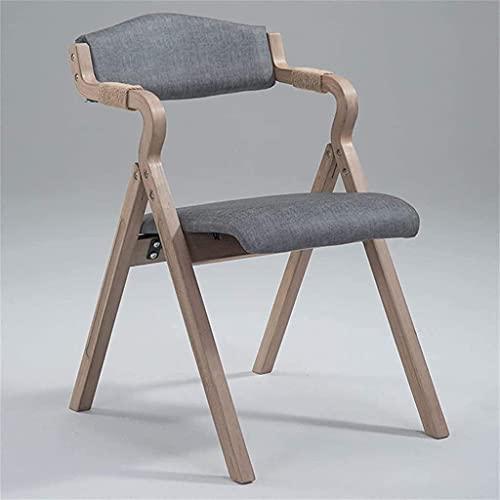 YONGYONGCHONG Silla de oficina moderna y minimalista plegable silla de comedor, respaldo de tela simple y simple (color: negro (color: negro) (color: gris claro)
