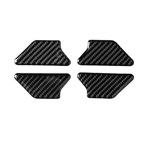 BTOEFE 4 Stück Auto-Styling Weiche Kohlefaser Innentürgriff Schüssel Abdeckung Schutzverkleidung, Für VW Golf 6 MK6 2010 2011 2012 2013