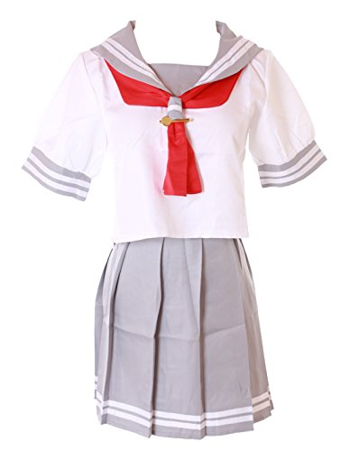 Kawaii-Story MN-36 Love Live Sunshine Aquors schooluniform matrozen grijs wit set Anime Manga Cosplay kostuum