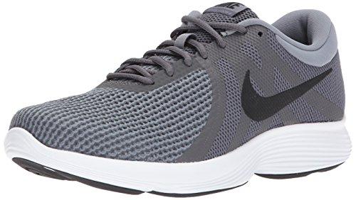 Nike Men's Revolution 4 Running Shoe, Dark Grey/Black-Dark Grey-White, 12 4E US