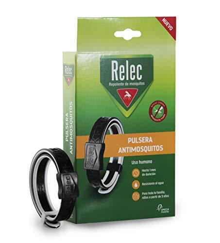Relec Pulsera, Repelente Mosquitos, Tamaño Único, Pack de 1