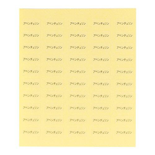 台紙用シール 10×5mm 石名・素材名 アクセサリー台紙用 日本製 (アベンチュリン・透明, 250枚)