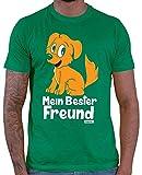 Hariz - Camiseta para hombre, diseño con texto 'Mein Bester Freund Hund' verde XXXL