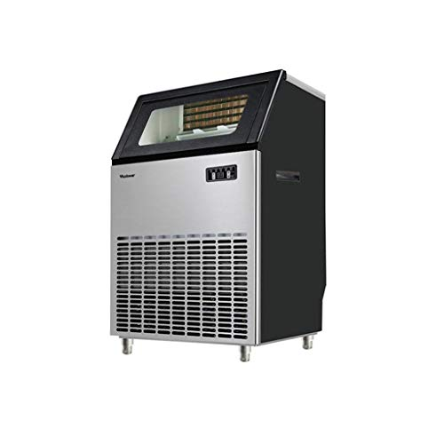 JCOCO Machine à glace automatique sous le comptoir/autoportante pour café-bar de restaurant, produits 264lbs Daily-w/Scoop, minuterie et nettoyage automatique, réglage de l'épaisseur de la glac