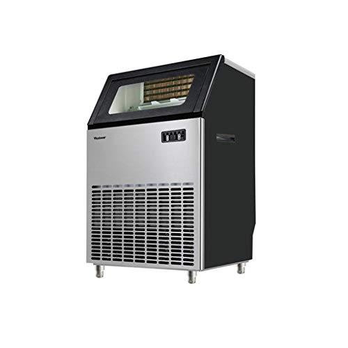 Professionele commerciële KTV Tea Shop ijsmachine, ijsmachinecapaciteit 265lbs / 24h grote automatische enkele 90 roosters ijsblokjesschaal, vierkante ijsblokjesmachine, 55,6 x 43,5 x 81 cm