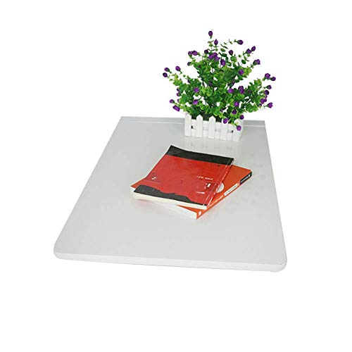 an Der Wand Befestigter Computertisch aus Massivem Holz, Faltbarer Multifunktions- an Der Wand, Esstisch, Mehrfarbig Optional, BOSS LV, Weiß,