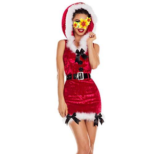 Reizen Vrouwen Kerstman Coume Ronde Kraag Rood En Groen Chrimas Jurk Kerstman Fancy Jurk Lover Ondergoed, Een Grootte, Onesize-Groen