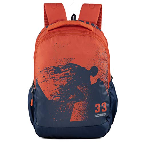 American Tourister Pop Nxt 04 Blue Rust Casual Backpack