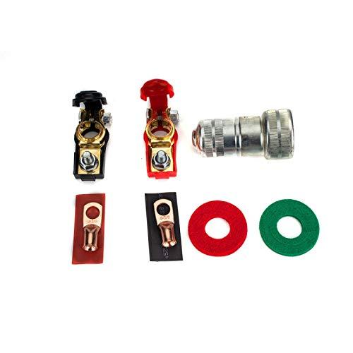 Clip 1 Par de batería de coche Terminal de cable Abrazaderas Conectores de cableado de la batería con la limpieza de protección Alta calidad