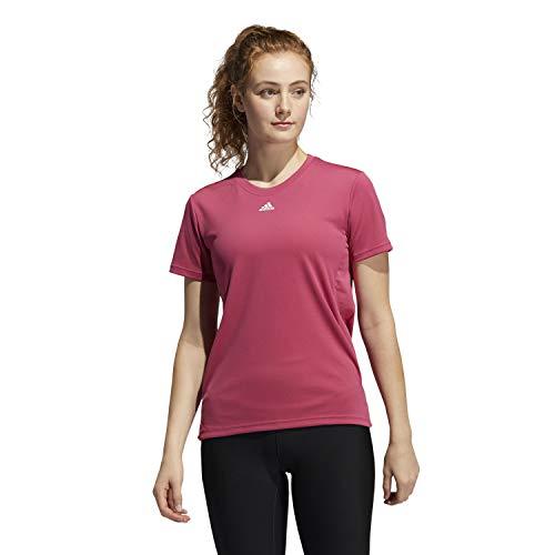 adidas NECESSI-tee t-Shirt (Short Sleeve), Wild Pink White, M Women