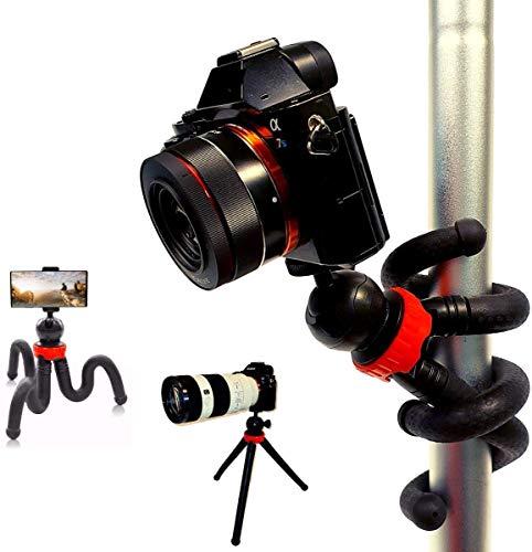 Flexibles Stativ für Handy und Kamera - Camera Stativ mit Stativ Handyhalterung,als Handy Tripod,Gopro Stativ oder flexibles Stativ-Handy Stativ flexibel,Kamera Stativ flexibel-Tischstativ Kamera